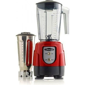 オメガ ブレンダー ミキサー 1馬力 レッド 赤Omega BL390R 1-HP Blender, Tritan Copolyester and Stainless Steel Container...