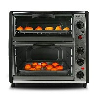 2段式オーブン デュアルオーブン ロティサリー NutriChef PKMFTO26 Multi-Function Dual Oven with Rotisserie and Roast...