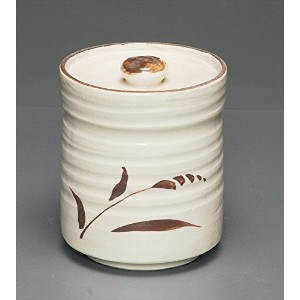 茶道具商 左座園 志野 水指 shino mizusashi/fresh-water container