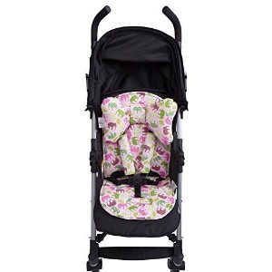 Baby Elephant Ears 3 Piece Stroller Set ~ Seat Liner, Support Pillow & Strap Covers (Pink Elephant)...