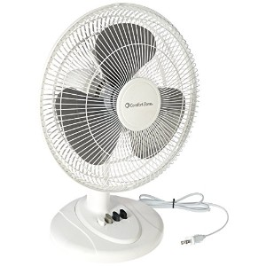 Comfort Zone Cz121 12 3 Speed Oscillating Table Fan by Howard Berger