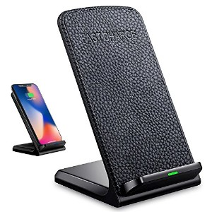 QIN ワイヤレス充電器 高速ワイヤレス急速充電 Quick Charge 2.0 スマホワイヤレス充電器for IPhone X/8/8 Plus/Galaxy Note8/S8/S8 Plus/...