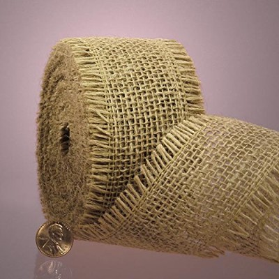 Natural Burlap Ribbon, 1-1/2 X 10Yd by Paper Mart
