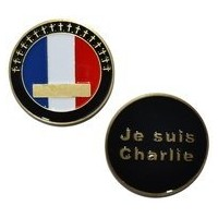 Charlie Hebdo Shooting Je Suis Charlieフランス旗–Challenge Coin