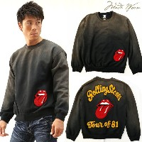 MADE WORN ROLLING STONES PATCH SWEATSHIRT プルオーバー トレーナー mwrs013sw