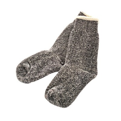ROTOTO / DAUBLE FACE SOCKS CHARCOAL S(23-25)
