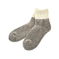 ROTOTO / TEASEL SOCKS Outlast WHITE/GRAY S(23-25)