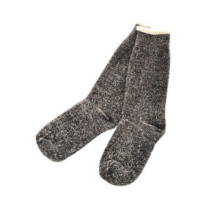 ROTOTO / DAUBLE FACE SOCKS CHARCOAL L(27-29)