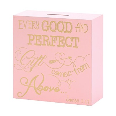 Dicksons Coin Bank for Little Girls, James 1:17/Pink by Dicksons