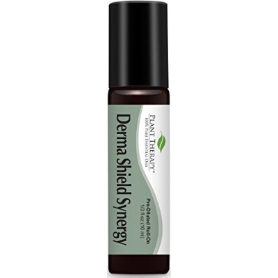 Plant Therapy Derma-Shield Synergy Pre-Diluted Roll-On 10ml (1/3 oz) 100% Pure, Therapeutic Grade