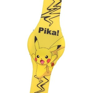 Pokemon Kid 'sデジタルLED Pikachu watch W / Light Up時間(イエロー)