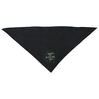 Mirage Pet Products 67-36 LGBK Happy St. Patricks Day Rhinestone Bandana Black Large