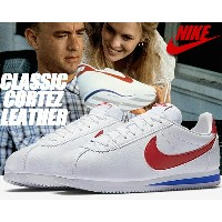 NIKE CLASSIC CORTEZ LEATHER white/varsity red【ナイキ コルテッツ レザー スニーカー クラシック コルテッツ レザー フォレストガンプ Forrest...