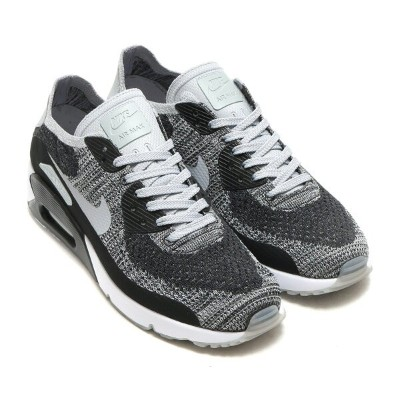 NIKE AIR MAX 90 ULTRA 2.0 FLYKNIT(ナイキ エア マックス 90 ウルトラ 2.0 フライニット)BLACK/WOLF GREY-PURE PLATINUM-DARK...