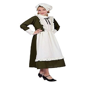 【Colonial Peasant Girl Child Costume Child Large (12-14) 91364-L】