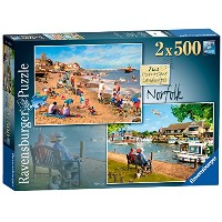 【Ravensburger Picturesque風景2号Norfolk Cromer and Horning、2 x 500ピースジグソーパズル】 b01mr2kyix