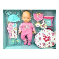 【American Girl Bitty Baby 15 inch Doll Deluxe 12 Piece Set Light Skin/Blue Eyes/Blond Hair】...