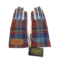 PENDLETON (ペンドルトン)PDW CHECK GLOVE Color:WINE Size:F