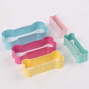 Cookie Cutters Dog Bone Shape Great for homemade treatsと工芸ステンレススチールPastry Cutters Set of 3by...