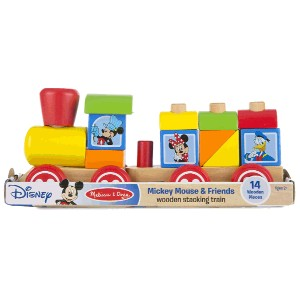 Disney(ディズニー)Mickey Mouse and Friends Wooden Stacking Train by Melissa & Dougミッキー・マウスのスタッキング列車 メリッサ...