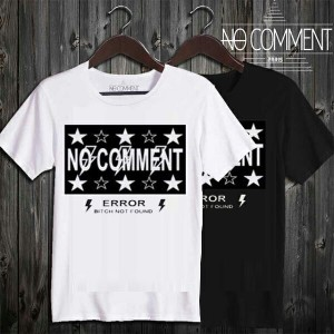 NO COMMENT PARIS ノーコメントパリ T-shirt ロゴスターブラック半袖Tシャツ T Shirt logo star black [LTN38.] [JAPAN LIMITED]...