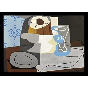 【Buyartforless場合V 45254 28 x 20 2ブラックPlexi Framed Nature Morte a la Charlotte 1960 ( Still Life...