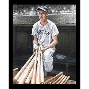 【Buyartforless Framed Ted Williams by Darryl Vlasakアートプリントポスター、17 x 12 】 b01innb8h4