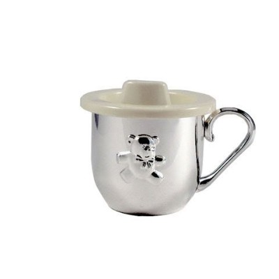 BABY CUP WITH SIPPER LID - BABY CUP W/ SIPPER LID, SILVER PLATED by Creative Gifts