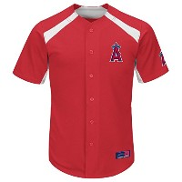 MLB Los Angeles AngelsメンズMike Trout 27Fever Player Jersey XL レッド
