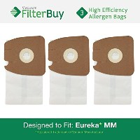 3mmタイプEureka Mighty Mite & Sanitaire高効率Allergenバッグ。Designed by FilterBuy to Replace Eurekaパーツ# ' s...