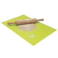 Lime Silicone Pastry Mat With MeasurementsRoll Up To Store (Pack of 2) - 測定とライムシリコーン菓子マット -...