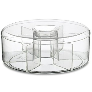 Rosti Mepal Round Clear Tea Storage Box Holds up to 60 Tea Bags (Pack of 2) - レシュティラウンドクリアなお茶の収納ボックス...