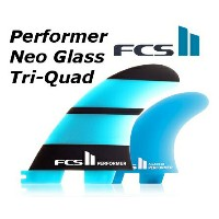 FCS2 FIN Performer Neo Glass Tri Quad Set 5FIN パフォーマー トライクアッド エフシーエス2 サーフィン フィン