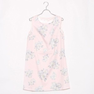 【SALE 74%OFF】ルーミィーズ Roomy's OUTLET ノースリ花柄ワンピース (ピンク)
