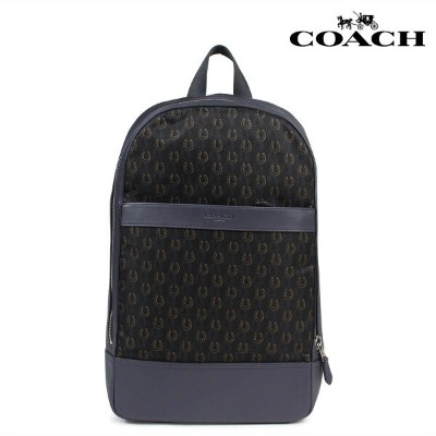COACH コーチ バッグ リュック メンズ バックパック CHARLES SLIM BACKPACK WITH HORSESHOE PRINT F25268 ネイビー 【CLEARANCE】