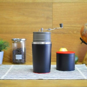 コーヒーミル&メーカー 豆挽き付 手動 コーヒーメーカーThemoemoe Manual Coffee Grinder and Bonus Portable Coffee Brewer