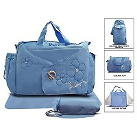 Official Todd Baby Buckle 3 Pc Blue Diaper Nappy Changing Shoulder Bag Bottle Holder Set New by...