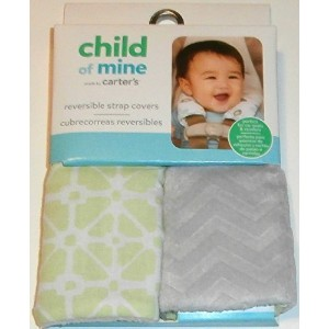 Child of Mine Green and Gray Reversible Strap Covers by Carter's