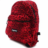 SUPREME(シュプリーム) Leopard Fleece Backpack (バックパック) RED 276-000274-013+【新品】