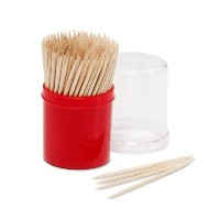 Farberware Classic Wood Toothpicks with Holder (200 Count) by Farberware