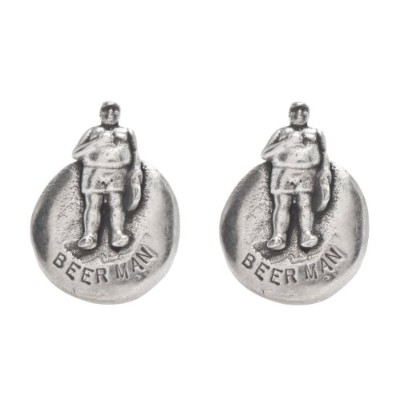 F Is For Frank Beerman Cufflinks in Pewter
