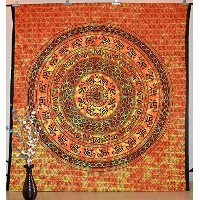 Indian Queen Tapestry Wall Hanging Hippie Bedspread Gypsy Blanket Wall D馗or Art