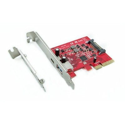 Ableconn PU31-1A1C USB 3.1 Gen 2 (10 Gbps) タイプC & タイプA PCI Express (PCIe) x4ホストアダプタカード ?デュアルUSB3.1...