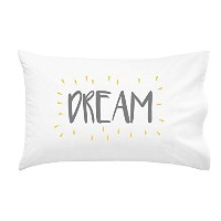 Oh, Susannah Dream Grey Yellow Toddler Size Pillowcase (1 Pillow Cover 14 x 20.5 Inches) by Oh,...