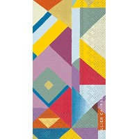 Ideal Home Range 16-Count 3-Ply Collier Campbell Paper Guest Towel Napkins, Kandi