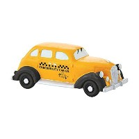 Department 56 Christmas in the City Village Checker City Cab Accessory, 4.4cm