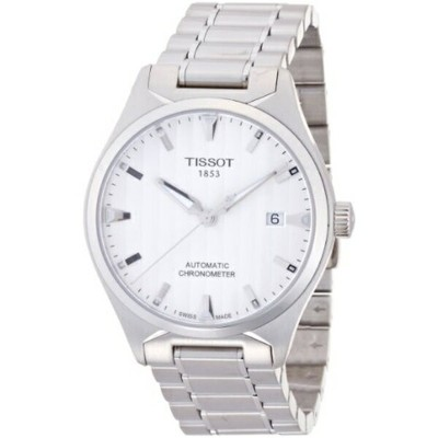 ティソ Tissot 腕時計 メンズ 時計 Tissot T-Tempo COSC Chronometer Silver Dial Mens Watch T0604081103100