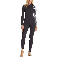 ビラボン レディース サーフィン スポーツ 3/2 Furnace Carbon Comp Chest-Zip Full Wetsuit - Women's Black Sands