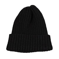 (ハイランド2000) HIGHLAND 2000 2×1 WATCH CAP ALPACA BRITISH WOOL - BLACK ONESIZE