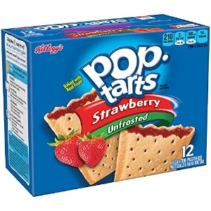 Kellogg's Pop-Tarts Toaster Pastries, Unfrosted Strawberry, 12 Count [並行輸入品]